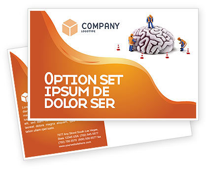 Smart Thinking Postcard Template, 04279, Construction — PoweredTemplate.com