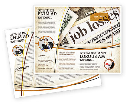 World Crisis Brochure Template, 04282, Careers/Industry — PoweredTemplate.com
