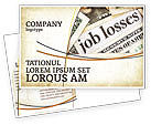 Careers/Industry: World Crisis Postcard Template #04282