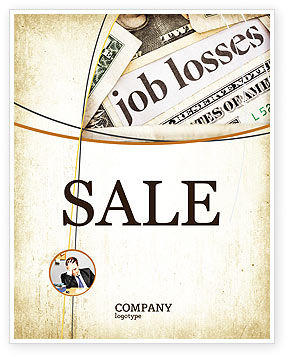 World Crisis Sale Poster Template, 04282, Careers/Industry — PoweredTemplate.com
