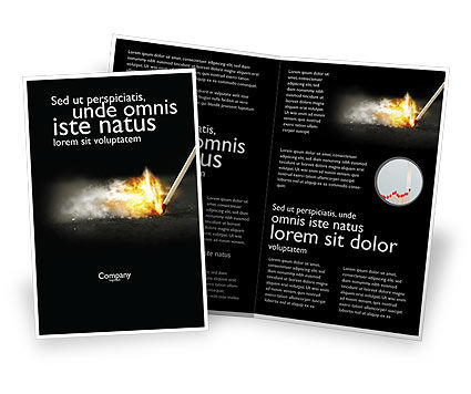 Business Concepts: Modèle de Brochure de allume feu #04284