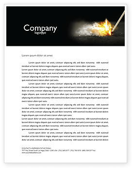 Business Concepts: Firestarter Letterhead Template #04284