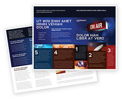 Careers/Industry: Live Broadcast Brochure Template #04285
