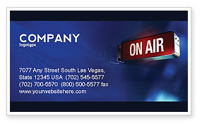 Live Broadcast Business Card Template, 04285, Careers/Industry — PoweredTemplate.com