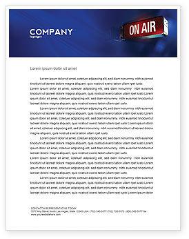 Live Broadcast Letterhead Template, 04285, Careers/Industry — PoweredTemplate.com