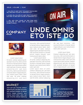live broadcast newsletter template 04285 careersindustry poweredtemplatecom