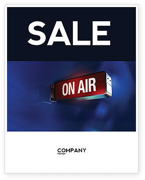 Live Broadcast Sale Poster Template, 04285, Careers/Industry — PoweredTemplate.com