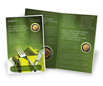 Flatware Brochure Template, 04286, Careers/Industry — PoweredTemplate.com
