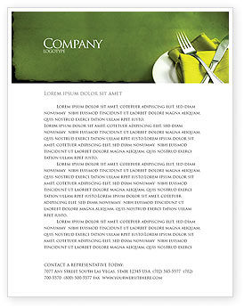 Flatware Letterhead Template, 04286, Careers/Industry — PoweredTemplate.com