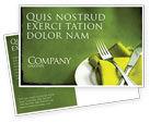 Careers/Industry: Flatware Postcard Template #04286