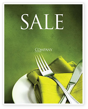Flatware Sale Poster Template