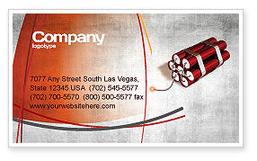 Dynamite Business Card Template, 04287, Military — PoweredTemplate.com