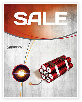 Dynamite Sale Poster Template, 04287, Military — PoweredTemplate.com