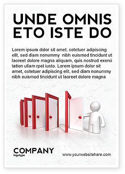Education & Training: Enfilade Open Doors Ad Template #04288
