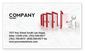 Education & Training: Enfilade Open Doors Business Card Template #04288