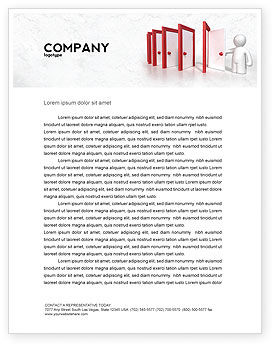 Enfilade Open Doors Letterhead Template, 04288, Education & Training — PoweredTemplate.com