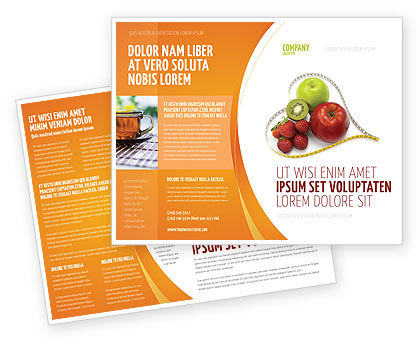 Balanced Nutrition Brochure Template, 04289, Medical — PoweredTemplate.com