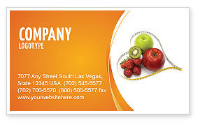 Balanced Nutrition Business Card Template