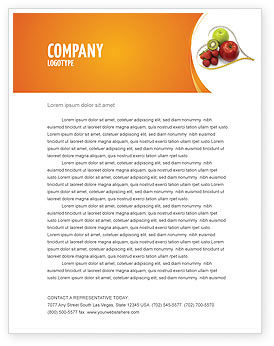 Medical: Balanced Nutrition Letterhead Template #04289