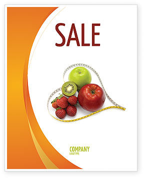 Balanced Nutrition Sale Poster Template, 04289, Medical — PoweredTemplate.com