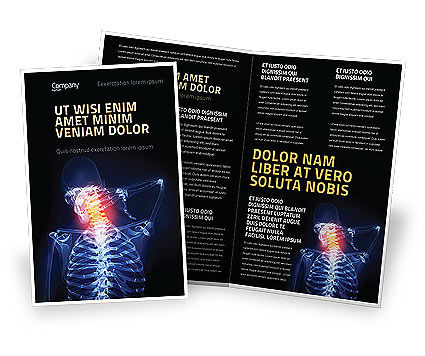 Neck Pain Brochure Template, 04292, Medical — PoweredTemplate.com