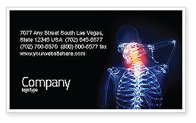 Neck Pain Business Card Template