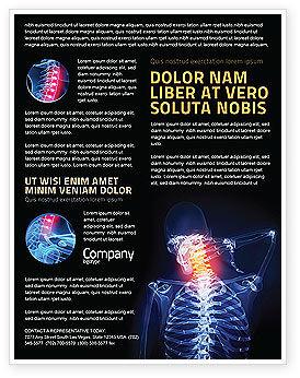 Neck Pain Flyer Template, 04292, Medical — PoweredTemplate.com