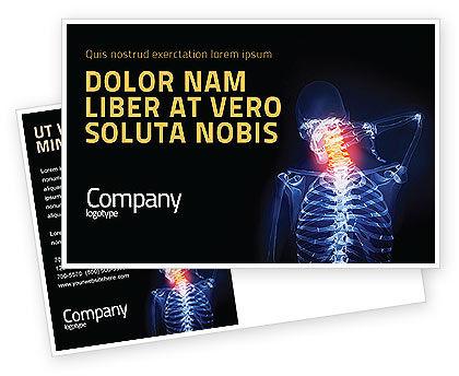 Neck Pain Postcard Template, 04292, Medical — PoweredTemplate.com