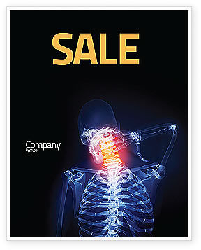 Neck Pain Sale Poster Template, 04292, Medical — PoweredTemplate.com