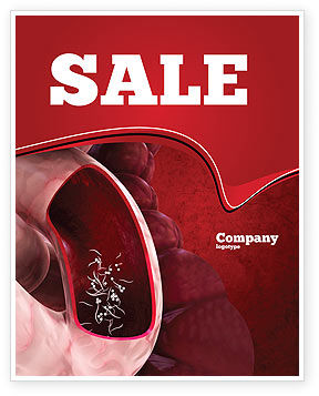 Intestinal Parasites Sale Poster Template, 04294, Medical — PoweredTemplate.com