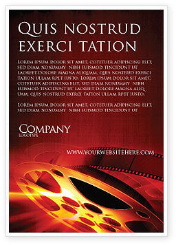 Art & Entertainment: Filmmaking Ad Template #04295