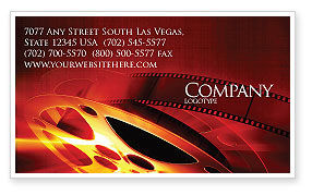 Art & Entertainment: Filmmaking Business Card Template #04295