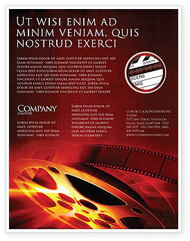 Art & Entertainment: Plantilla de volante - cine #04295