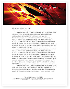 Filmmaking Letterhead Template, 04295, Art & Entertainment — PoweredTemplate.com