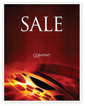 Art & Entertainment: Filmmaking Sale Poster Template #04295
