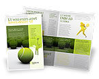 Sports: Tennis Balls Brochure Template #04296