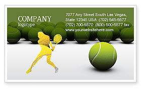 Sports: Tennis Balls Business Card Template #04296