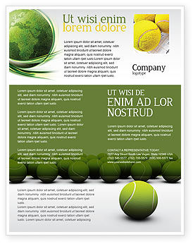 Tennis Balls Flyer Template, 04296, Sports — PoweredTemplate.com