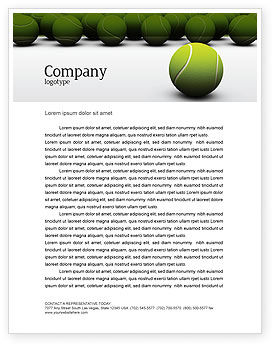Sports: Tennis Balls Letterhead Template #04296