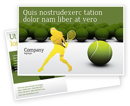 Tennis Balls Postcard Template, 04296, Sports — PoweredTemplate.com