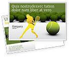 Sports: Tennis Balls Postcard Template #04296