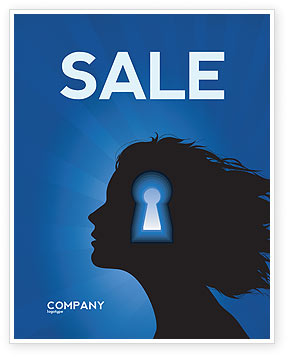 Female Mind Sale Poster Template, 04302, Consulting — PoweredTemplate.com