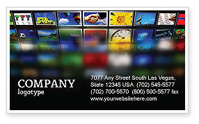 Art & Entertainment: Image Stock Business Card Template #04306