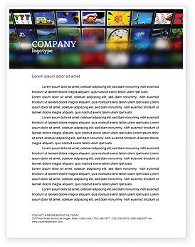 Art & Entertainment: Image Stock Letterhead Template #04306