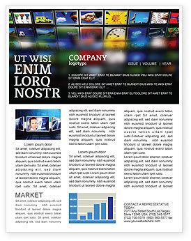 Image Stock Newsletter Template, 04306, Art & Entertainment — PoweredTemplate.com