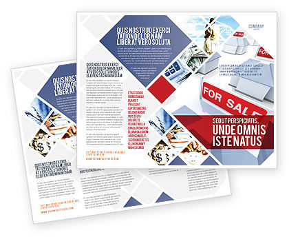 sales brochure template - real estate in massive sale brochure template design and