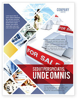Real Estate In Massive Sale Flyer Template, 04307, Construction — PoweredTemplate.com