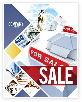 Real Estate In Massive Sale Sale Poster Template, 04307, Construction — PoweredTemplate.com