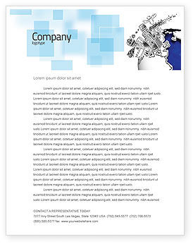 Global: Modern Civilization Letterhead Template #04309