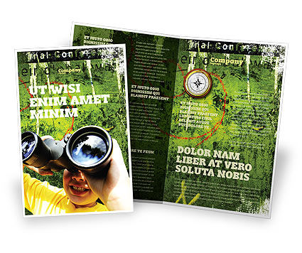 Scout Brochure Template, 04310, Education & Training — PoweredTemplate.com